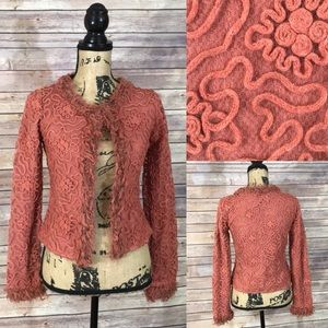 Barami Cardigan with Embroidered Overlay